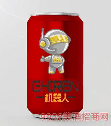 机器人啤酒330ml小白系列红罐