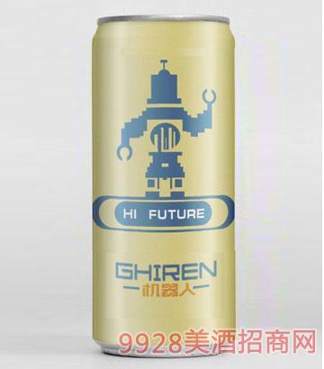 机器人啤酒500ml银灰罐