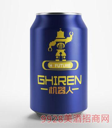 机器人啤酒330ml蓝罐