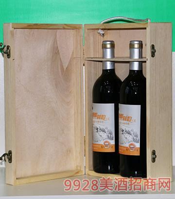 绿都林韵窖藏特制原汁葡萄酒两支木盒装
