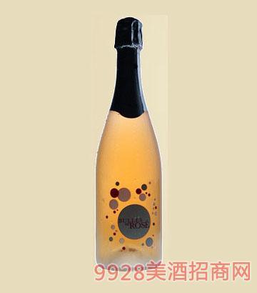 桃红气泡酒