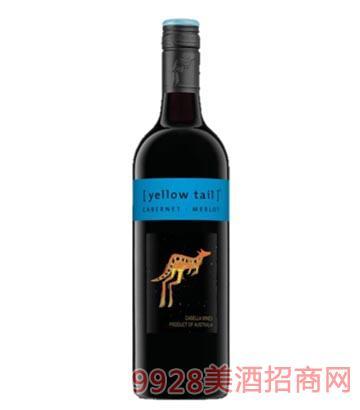 黄尾袋鼠 赤霞珠梅洛葡萄酒