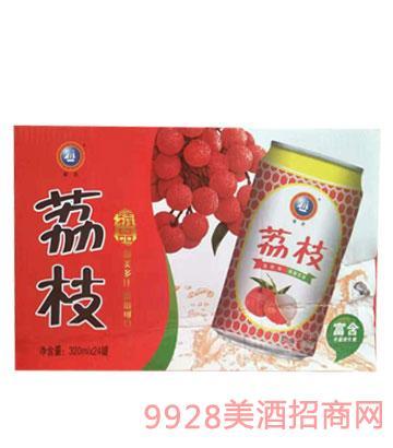 青邑荔枝果味啤320mlx24罐11°p