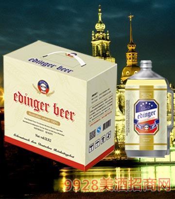 8°P德国慕尼黑埃丁格白啤2L×2桶