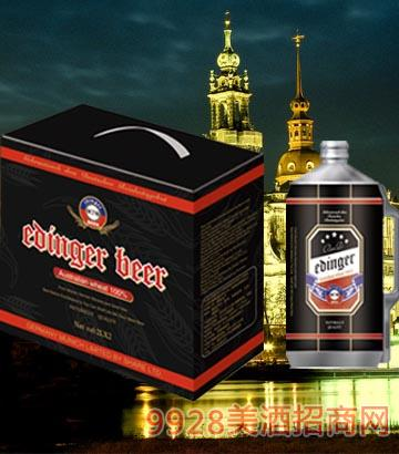 8°P德��慕尼黑埃丁格黑啤2L×2桶