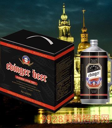 8°P德国慕尼黑埃丁格黑啤2L×2桶