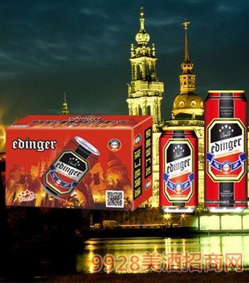 8°P德国慕尼黑埃丁格红罐啤酒330ml×24