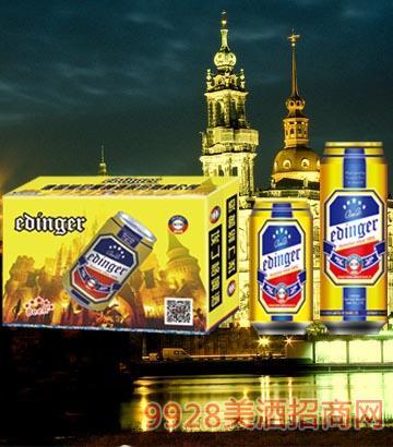 8°P德��慕尼黑埃丁格金罐啤酒330ml×24