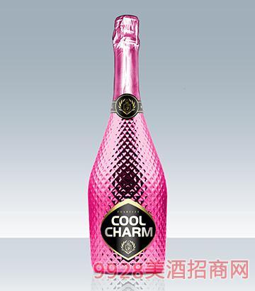 酷魅起泡酒玫瑰香口味钻石包装瓶