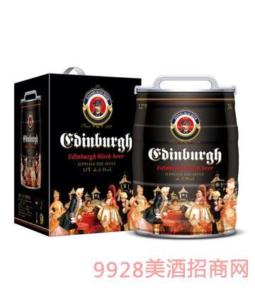爱丁堡黑啤酒5L桶装