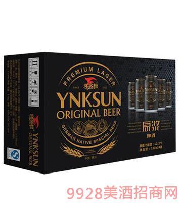 迎客松原浆啤酒330x24黑-新版