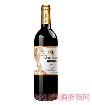 法国路易欧帝老葡萄2004干红葡萄酒