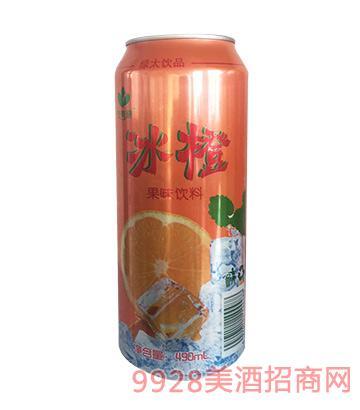 冰橙果味�料490ml