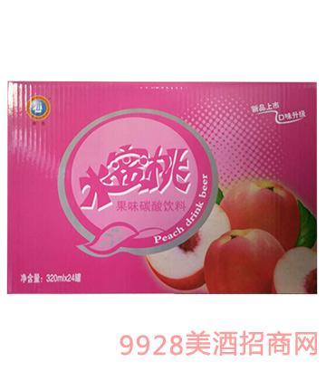 水蜜桃果味�料320mlX24罐