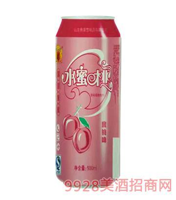 水蜜桃味果啤500ml易拉罐