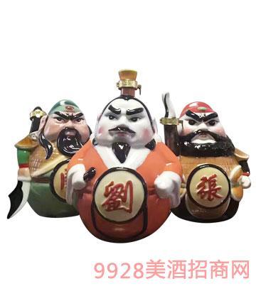 黄山松刘关张坛子酒三斤装