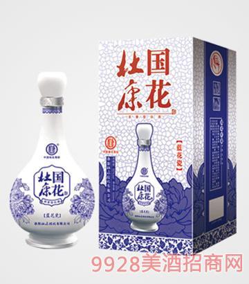 国花杜康酒蓝花瓷