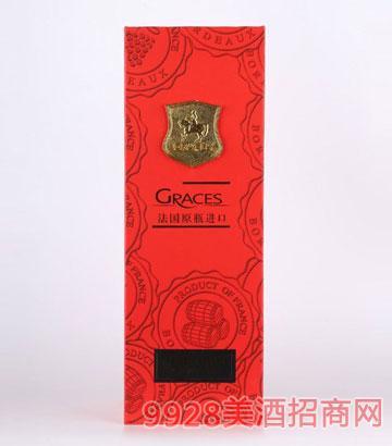 红色单支葡萄酒礼盒