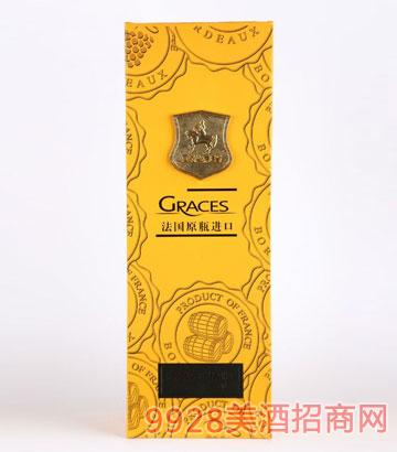 黄色单支葡萄酒礼盒