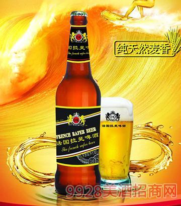法国拉斐啤酒棕瓶500ml