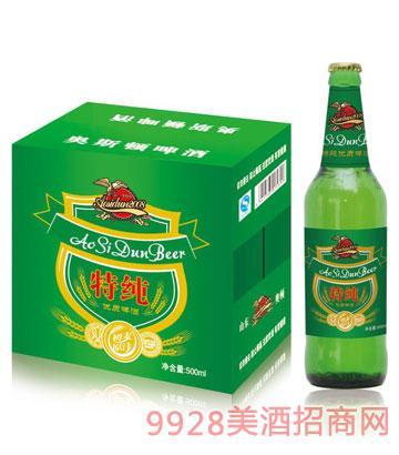 奥斯顿啤酒特纯500mlx12瓶箱装