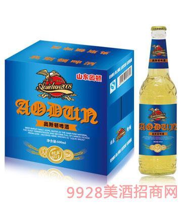 奥斯顿啤酒初麦原汁500mlx12瓶箱装