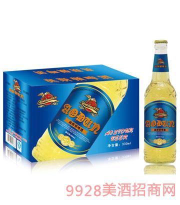 奥斯顿啤酒330mlx24箱装(蓝标)