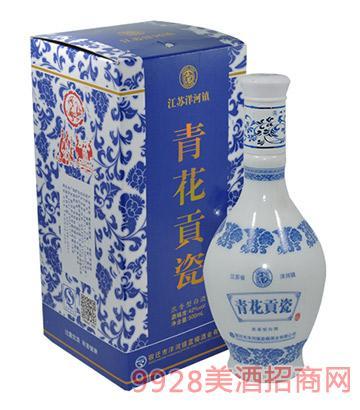 江苏洋河镇青花贡瓷酒500ml