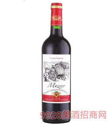 750ml13%vol玛泽尔干红葡萄酒