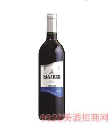 375ml12%vol玛泽尔干红葡萄酒