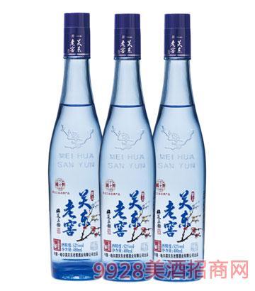 关东老窖酒梅花三韵(蓝瓶)