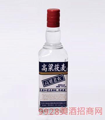 高粱老农酒莜麦41度500mlx12瓶清香型