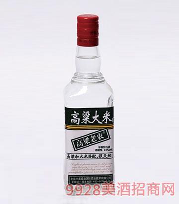 高粱老农酒大米41度500mlx12瓶浓香型
