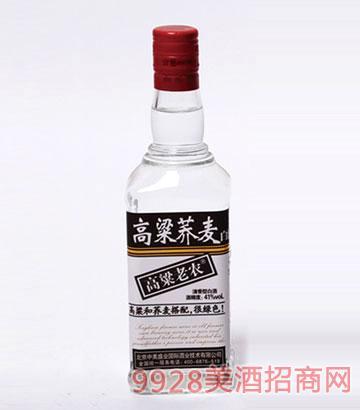 高粱老农酒荞麦41度500mlx12瓶清香型