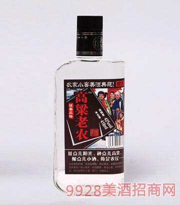 高粱老农酒田园43度418mlx12瓶清香型