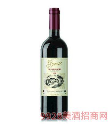 法国格鲁特庄园干红葡萄酒750ml