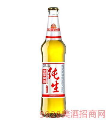 金星啤酒纯生白瓶510ml×12
