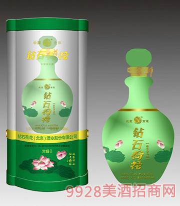 钻石荷花酒荣耀8(绿)42度500ml
