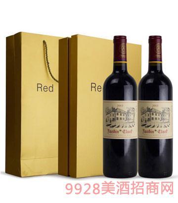 法国拉斐传奇干红葡萄酒双支礼盒