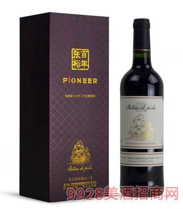 法国原瓶鱼尾船(水手)干红葡萄酒