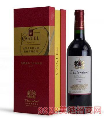 法国伦都美乐干红葡萄酒
