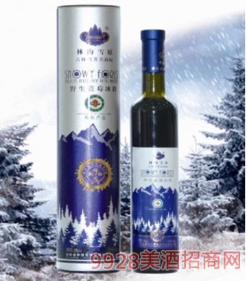 林海雪原生蓝莓酒10度750mlx6