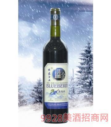 林海雪原裸瓶蓝莓酒10度750mlx6