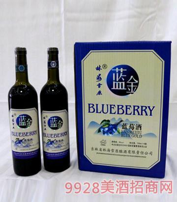 林海雪原蓝金蓝莓果酒10度750mlx6