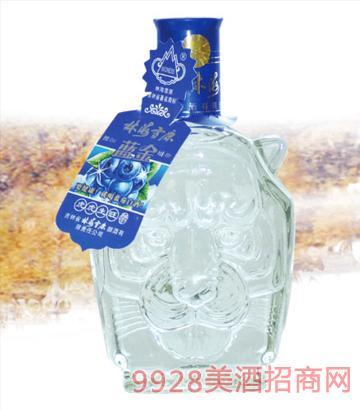 林海雪原虎头蓝莓酒38度42度450mlx6