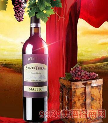 智利圣蒂娜珍藏马尔贝克干红葡萄酒14%vol