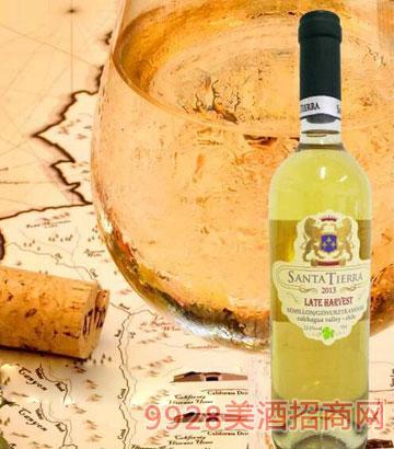 智利圣蒂娜晚收甜白葡萄酒12.5%vol