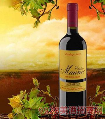 法国波尔多莫哈酒庄葡萄酒13.5%vol