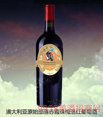 澳大利亚原始部落赤霞珠梅洛红葡萄酒14%vol