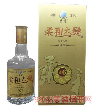 �K博柔和大曲酒金�b柔6 42度500mlx6�庀阈�